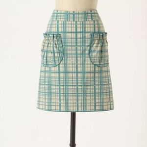 Girls From Savoy LANE CHANGE Plaid Cotton Skirt 8
